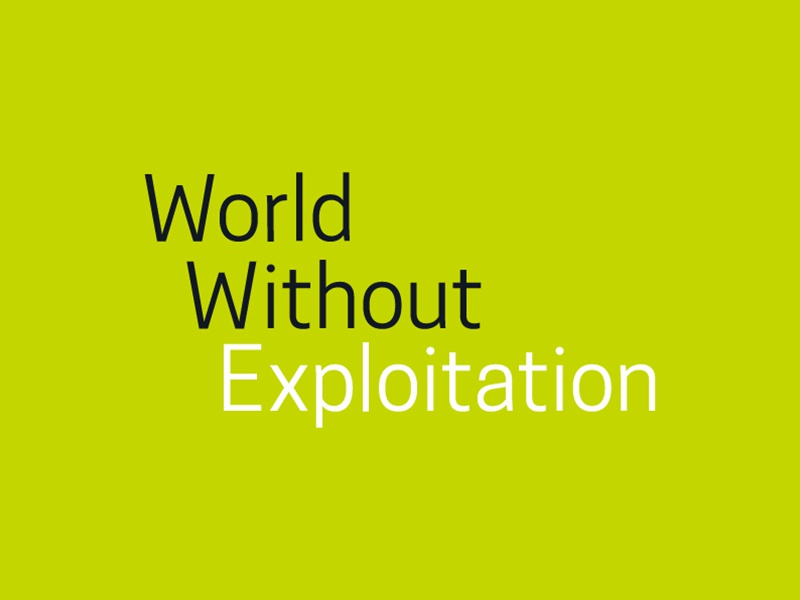 World Without Exploitation Logo typography brand logo