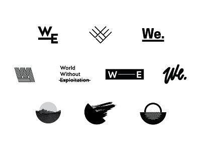 WorldWE Logo Exploration exploration typography logo