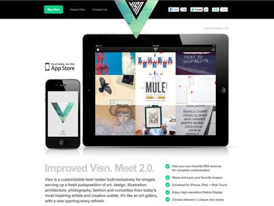 Visn 2.0 Website ios app ipad iphone visn website