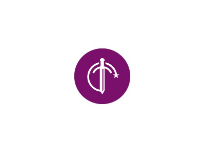 Ice & Fire | Dayne sigil mark seal crest sword purple