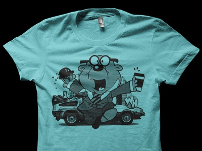 Penfold Wormhole Shirt Concept coffee penfold halftone wormhole delorean