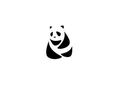 Panda! negative space illustration panda