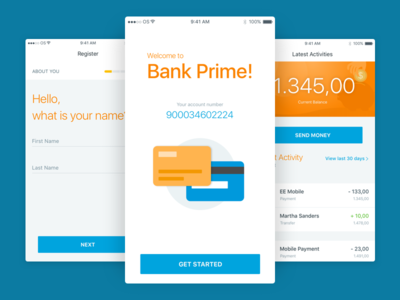 Banking App outsystems mobile bank banking money transfer transactions bankapp credit