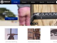 Adrenaline Slacklines Landing Page