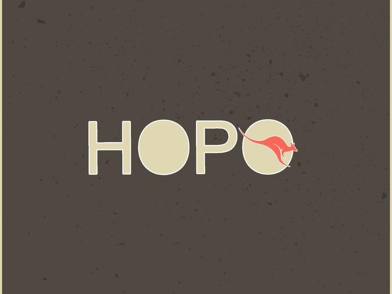Kangaroo Logo concept hopo kangaroo branding logomockup wordmarks typography illustration logo 2d design dribbble logolovers dailylogochallange