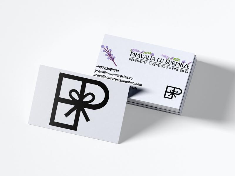 gift store concept purple flowers lavender bucharest gifts branding design logo