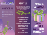 Brochure concept for a gift shop