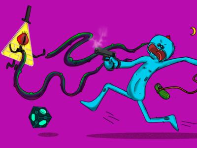 Mr. Misix collaborates - Spoiled phone cucumber rick the fight grace art adobe illustrator adobe collaboration portrait artwork digital art vector digital painting digital illustration