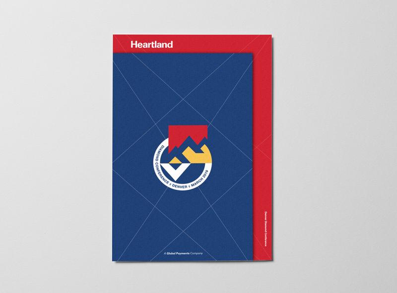 Denver Diamond Conference Print Design badge minimal blue typography trendy identity collateral branding design