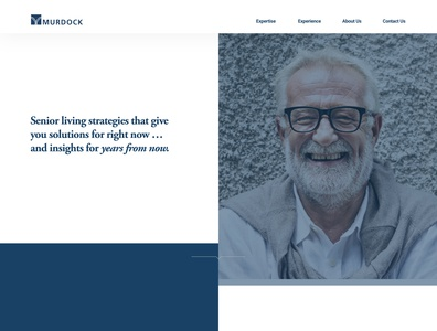 Minimal Senior Living Strategies Website Design