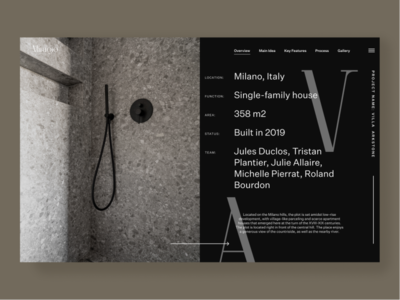 Miragio Architect Buro architecture architect minimal design website web ui