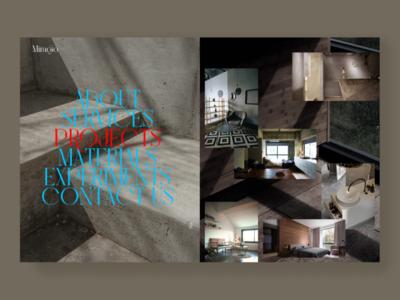 Miragio Architect Buro agency architecture website web ui design