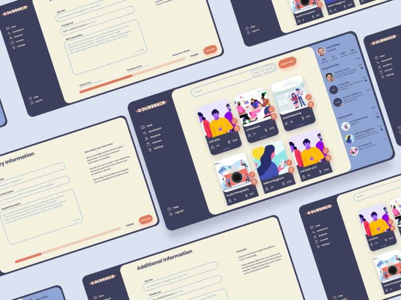 Online Courses Platform courses education website web ui design