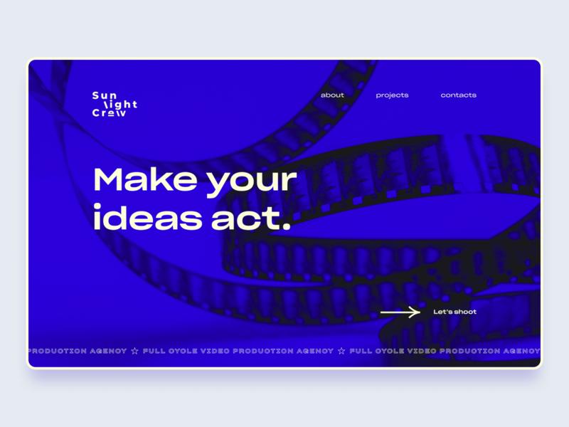 Sunlight Crew Production agency website video production agency website web ui design