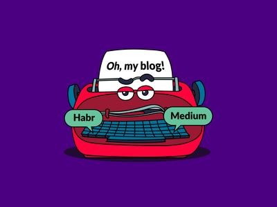 Oh, my blog!