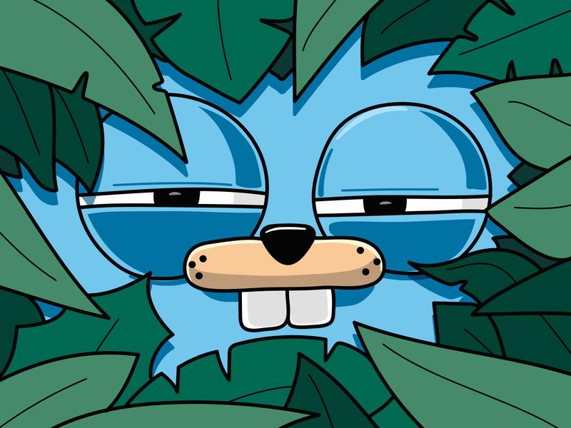 Goffer in the jungle vector jungle go design animals illustration