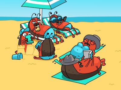 Bugs on the beach