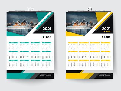 2021 one page desk calendar design best flyer design template business calendar corporate calendar calendar design date time 2021 design calendar 2021 calendar design branding business advertising