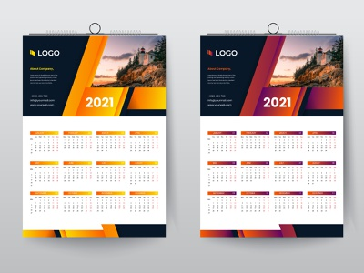 2021 wall calendar design template advertising vector design new year wall calendar business corporate calendar 2021 calendar 2021 calendar