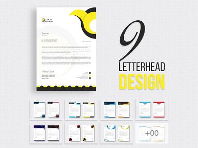 Letterhead Design Template logo 2021 professional modern creative company stationary branding business corporate letterhead design graphic design design