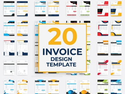 Invoice Design invoice project bundle design set vector branding cmyk design agency business corporate invoice design invoice