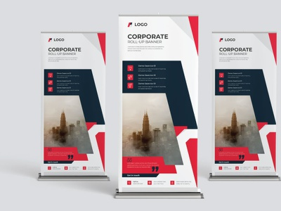 Roll Up Banner Dediagn graphic design vector 2021 advertising business corporate template design banner roll up banner roll up