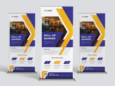 Roll Up banner design template out side store promot promotion company agency design banner roll up banner advertising business corporate