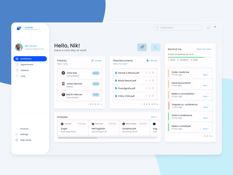 Medical dashboard web application patient medical record design system application medical dashboard app doctor product design dashboard ui dashboad