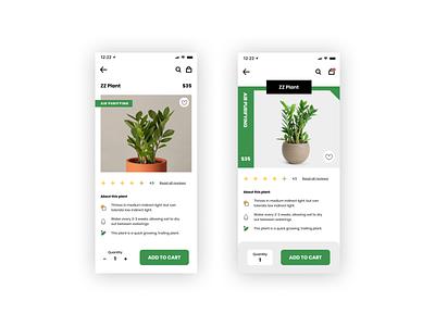 Daily UI Challenge - eCommerce product design ux branding ui uidesign uiux design planter online store ecommerce app shop