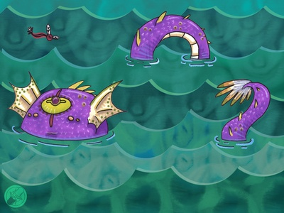 Anabella - purple sea monster