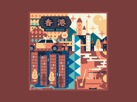 Square Illustration - China (Hong Kong)