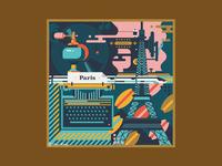 Square Illustration - France (Paris)