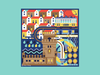 Square Illustration - Lisbon (Portugal)