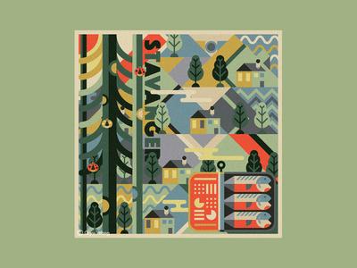 Square Illustration - Stavanger (Norway)