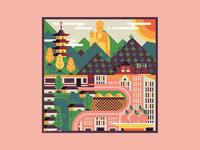 Square Illustration - Wuxi (China)