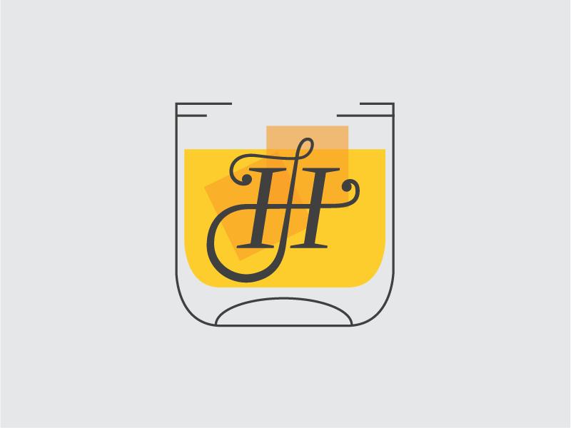 Monogram-ish… Whiskey Glass whiskey illustration monogram thin line tastey