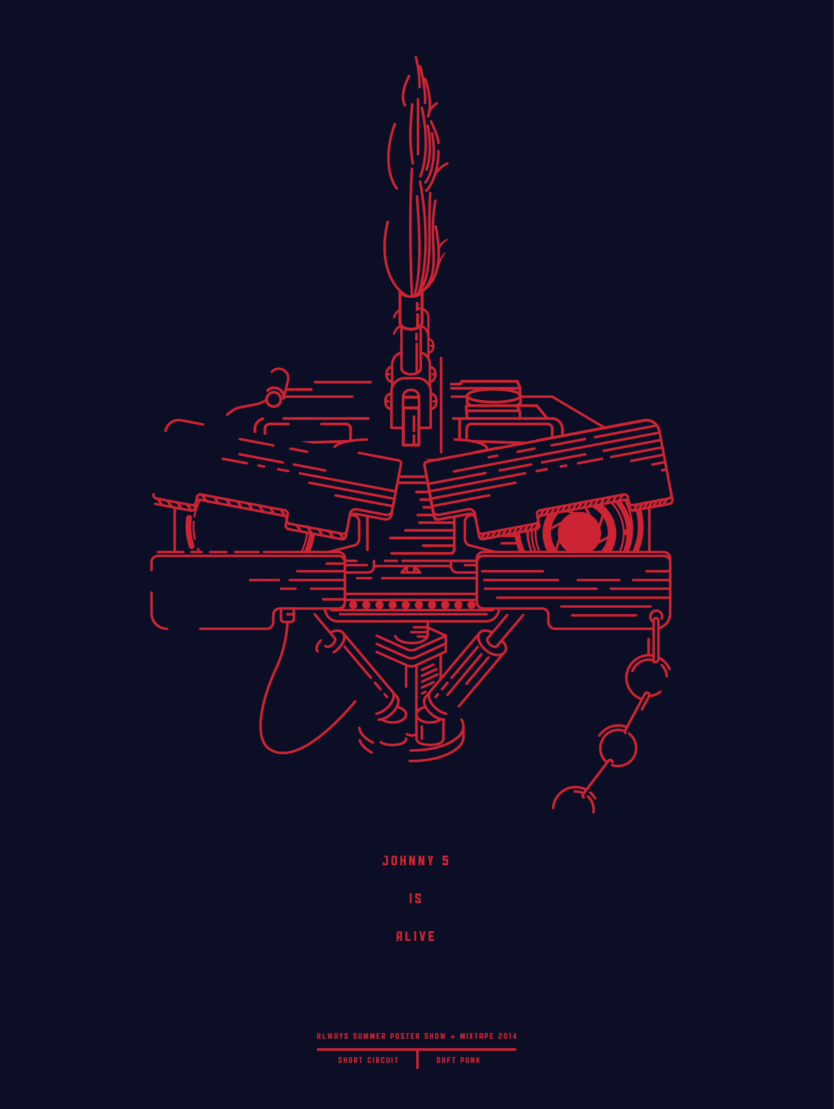 Short Circuit Johnny 5 Poster Modern Design Of Wiring Diagram Number Is Alive From The Movie Dribbble Johnny5 Punk2 By Benjamin Windsor Rh Com Quotes