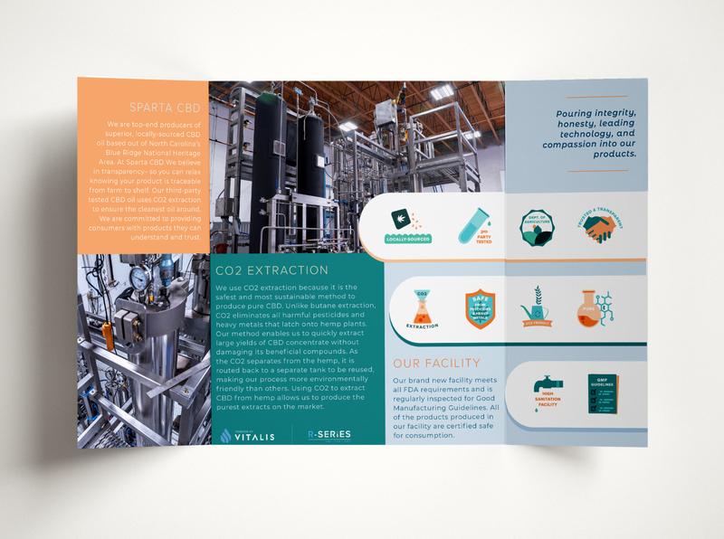 brochure layout design cannabis cannabis logo cbd oil brand identity hemp cbd co2 extraction mockup brochure design brochure print material graphicdesign icons