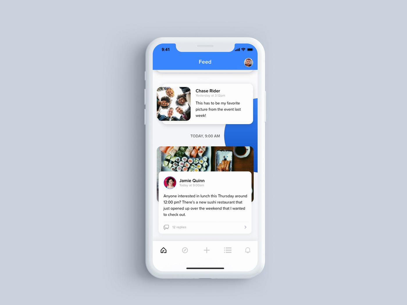 TeamUp App Concept Design concept app design app design challenge interaction design app ui ux