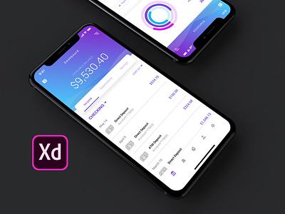 Peak Finance App Concept | Adobe Design Creative Challenge workflow design finance finance app concept app adobe xd interaction design ui ux
