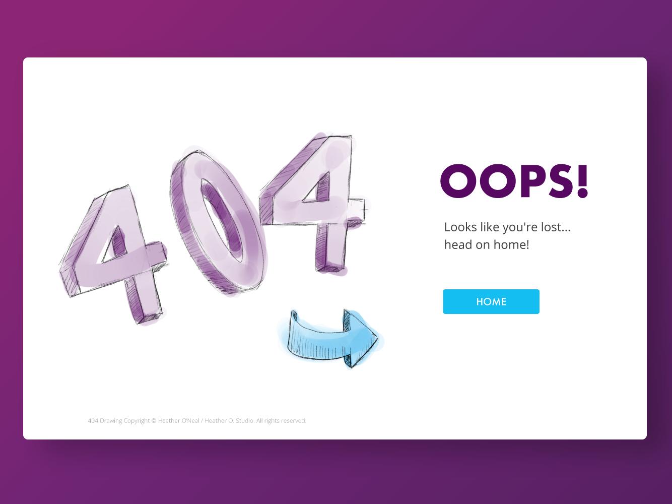 404 Error Splash Screen portfolio art website landing page 404 daily 100 challenge illustration design 404 page ui