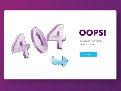 404 Error Splash Screen