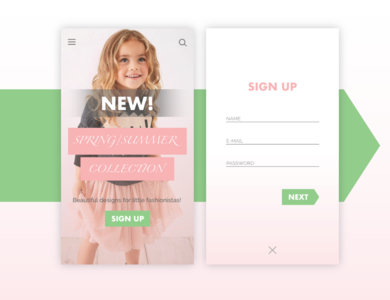 Home and Sign Up Screens Design mobile app design mobile app mobile ui app application app design apparel fashion app sign up page sign up sign up ui signup screen signup page homepage design home screen homepage typography ui design art