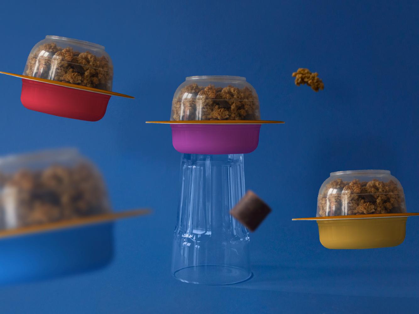 Yogurt Asteroid asteroid chocolate fun universe space kids namimg branding design fiction spaceship packaging yogurt cereal packagedesign package