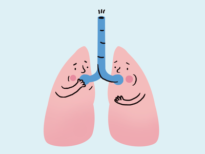 Lungs medicine pharmacy cute simple photoshop vector illustration lungs asthma
