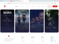 Movies website UI design