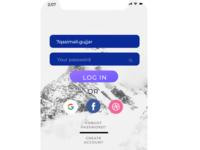 Mobile Signup Login Screen UI