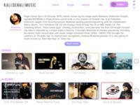 Artist website UI design-Landing page