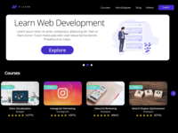 E learning website landing page