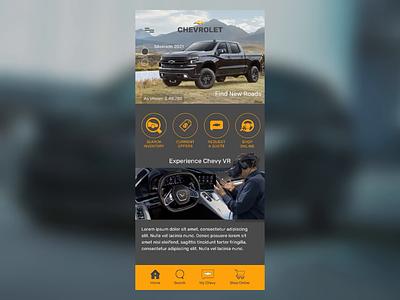 Chevrolet App Concept animation principleapp principle prototype cars chevy chevrolet app camaro uidesign ui uiux mobile ui design figma figmadesign corvette colors 2021